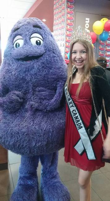With the one and only Grimace