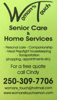 Contact Cindy at 250-309-7706